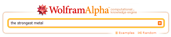 WolframAlpha search bar